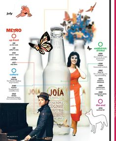 EDITORIAL-METRO MAGAZINE Content Page, Up Front, Editorial Design, Bartender, Magazine, Graphic Design, Bottle, Art Direction, Table Of Contents Format