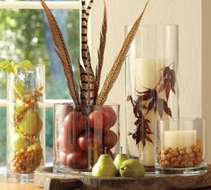 fill vases with things related to season/holiday.