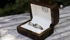 One of the main aspects of my work is creating unique and meaningful wedding and engagement rings for couples.  This is one example of simple-yet-different rings that can be made.  Sterling silver and 9ct gold (rose on hers, yellow on his) rings.    These rings live on the happily married coupl...