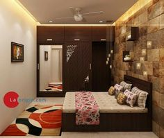 Bedroom interior design small guest rooms ideas for 2019 Wardrobe Design Bedroom, Bedroom Cupboard Designs, Bedroom Bed Design, Bedroom Furniture Design, Modern Bedroom Design, Home Interior Design, Indian Bedroom Decor, Indian Home Decor, Home Decor Bedroom