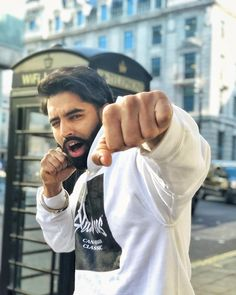 Image may contain: 1 person, standing, beard, outdoor and closeup Parmish Verma Beard, Girl Couple, Beard Styles For Men, Beard Love, Boys Dpz, Famous Singers, Music Icon, Movie Photo, Aesthetic Photo