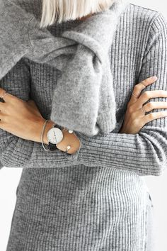 Outfit: grey layers (via Bloglovin.com )