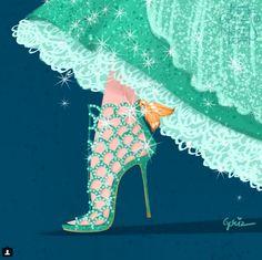 Los zapatos de los personajes de Disney creados por diseñadores : ELLE