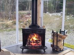 3 season room with wood burning stove - Google Search