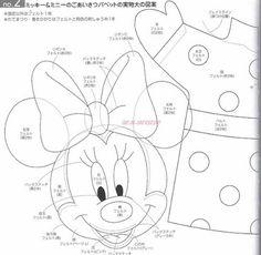 Molde ( fantoche) Minnie e Mickey (written in Portuguese)