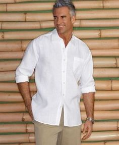 Tommy Bahama. Idea for Ken's wedding attire. Simple but oh so handsome.