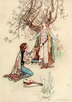 The Fairy Book by Warwick Goble: 'Riquet with the Tuft'.