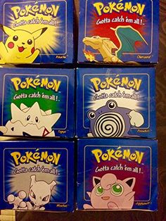 """RED Pokemon """"23k Gold Plated"""" Burger King Cards Set of 6 ..."""