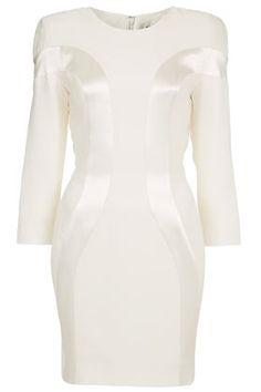 White Seam Shift Dress