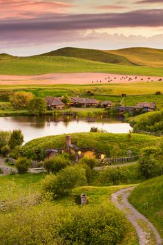 Discover the real Middle-earth on the most picturesque private farmland near Matamata in the North Island of New Zealand, where you can visit the Hobbiton Movie Set  from The Lord of the Rings and The Hobbit film trilogy in a fascinating two-hour guided tour.