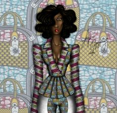 Papa Oppong for VLISCO  Fashion Illustration  2013... - LIfe Of An African Fashion Illustrator