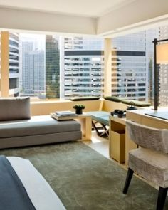 The Upper House  ( Hong Kong )  It might be hard to leave the views and upscale amenities, like in this Studio 80 Island View. #Jetsetter #JSCathay