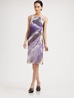 Armani Collezioni - Watercolor Lily Drape Dress