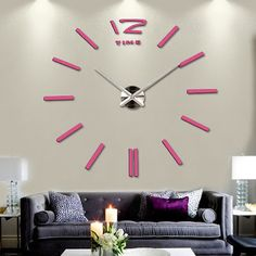 New hot sale clock watch wall stickers clocks home decoration modern quartz diy  acrylic Mirror Metal. Alvian Rahardjo · Jam Dinding Raksasa 9af0d4245c