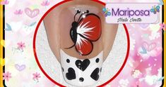 Decoración de uñas mariposa paso a paso en color rojo | Alexey.es Merry Christmas Gif, Manicure And Pedicure, Toe Nails, Projects To Try, Lily, Nail Art, Make It Yourself, Youtube, Instagram