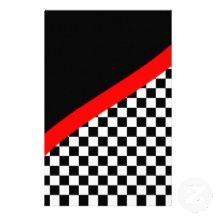 car racing scrapbooking | Checkered Flag Stationery, Custom Checkered Flag Stationary