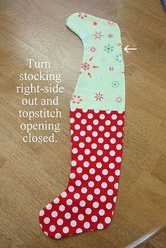Ucreate: Simple Mini Stocking Tutorial by Diary of a Quilter