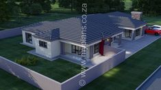 4 Bedroom House Plan This Tuscan designed Single Storey 4 Bedroom House Plan Boasting Full Master Suite including walk-in closet, 3 Standard Bedrooms, Bathroom, Guest Loo, Open Plan Living Area including Kitchen with Scullery and Double Garage Tuscan House Plans, My House Plans, My Building, Building Plans, Beautiful House Plans, Beautiful Homes, 6 Bedroom House Plans, House Plans South Africa, My Dream Home