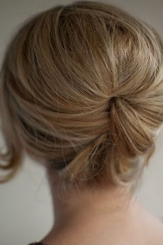 Must learn how to do this relaxed beehive...Might work with short hair?