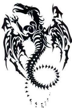 awesome tribal dragon tattoo #dragon #tattoos #tattoo: