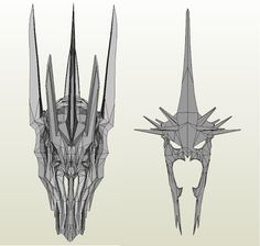 [Lord of the Rings] Sauron & Witch King Helmet 1:1 - DePapercraftBlog