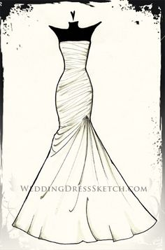 custom wedding dress gown sketch fashion drawing sketch weddingdresssketch.com