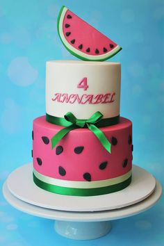 Watermelon cake - Cakes and Biscuits by Lisa
