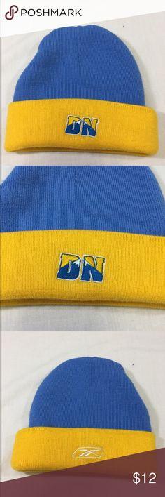 Reebok Denver Nuggets Men's Beanie Blue & Yellow Reebok Denver Nuggets Men's Beanie Blue & Yellow One Size Reebok Accessories Hats