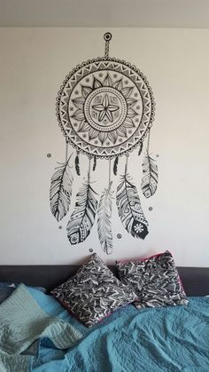 13 Beautiful Wall Painting Ideas Painting is among the prime sections of interior decorating. Wall Art Designs, Paint Designs, Wall Design, Wall Painting Decor, Art Decor, Painting Walls, House Painting, Decor Ideas, Ideas Decoración