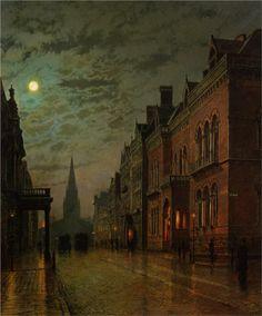 Park Row, Leeds Artist: John Atkinson Grimshaw