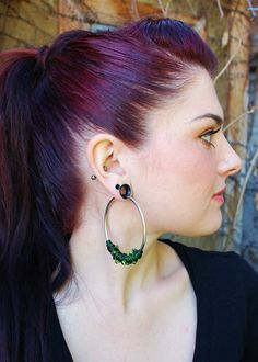 Chaotic Coil Closure Hoops with Beads by PeachTreats on Etsy, $34.99