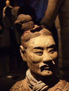One of Emperor Qin's terracotta warriors, on display at the Asian Art Museum, San Francisco,  2013