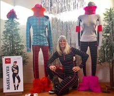 Kathy loves @karitraa so much she decided to be part of the display! #karitraa #baselayer #scandinavian #trustgeartrustsource #display #tistheseason