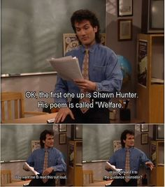 I always loved Mr. Turner… Boy Meets World Source by rachelsusanw Boy Meets World Shawn, Boy Meets World Quotes, Girl Meets World, Tv Quotes, Movie Quotes, Funny Quotes, Funny Memes, Hilarious, Cory And Topanga