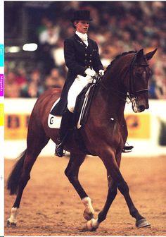 Anky van Grunsven with Bonfire. Indoor Brabant 1998.