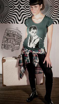 Remera Audrey (varios Colores) Camisa My Love Escoces (varios Colores) Calza Piel de Durazno (varios Colores) ph: Aida Vera