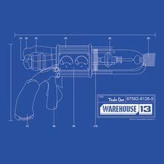 Warehouse 13 Tesla Gun T-Shirt