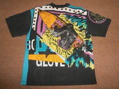 VINTAGE 90'S body glove print t shirt