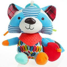 Rocky the Raccoon Teether & Plush Toy | Relief From Teething Pain | Perfect For Stroller, Baby Carriage, Crib, Car Seat | Infants, Babies & Toddlers  Now Only $11.97!