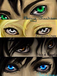 Percy Jackson eyes.