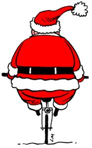 Looks like Santa is working on getting fit for the holidays! Cycling Motivation, Cycling Quotes, Spin Class Humor, Spin Quotes, Spin Playlist, Spin Instructor, Spin City, Cycling Holiday, Spinning Workout