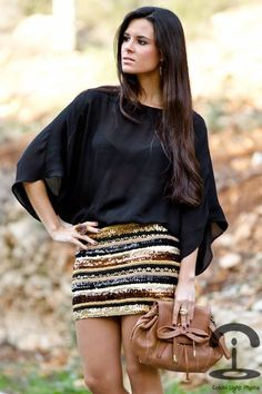 DIY : transformez une jupe pour le réveillon du Nouvel An
