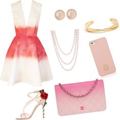 PINK by explorer-14342008228 on Polyvore featuring polyvore fashion style Joana Almagro Dolce&Gabbana Chanel Henri Bendel Saachi Tory Burch