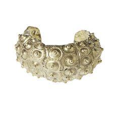 More from Alkemie, a sea urchin cuff, in silver
