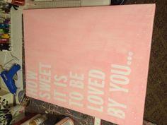 Custom canvas for baby girl nursery