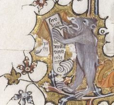 He writes, he growls (his bum's bitten by a turkey?) @BLMedieval Egerton MS 3277, f. 13v