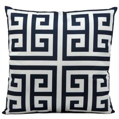 Mina Victory Indoor/ Outdoor Navy 20-inch Throw Pillow - Overstock™ Shopping - Great Deals on Nourison Throw Pillows
