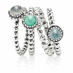 I love Pandora's new stacking rings :) ...on my Bday List...