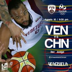 Via Instagram LAEMINENCIAreal Hoy #Ven Vs. #Chn  9:30Pm el primero a ganar si podemos  #Vzla2K16 #rio2016  #JuntosSomosMas #Venezuela #juegosolimpicos #basket #Baloncesto #2K16  #basketball #laVinoTinto #somosvinotinto #sport #tw #LaEminencia