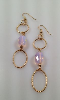IBA Opalescent Geometric Pierced  Earrings by InspiredByAmber, $19.00